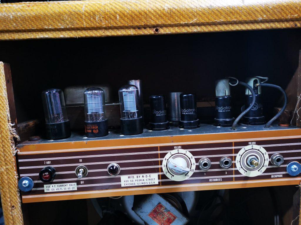 Vintage national valco guitar amplifier inside