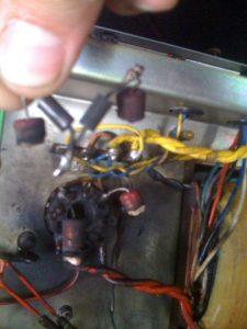 Burnt resistor as result of poor servicing