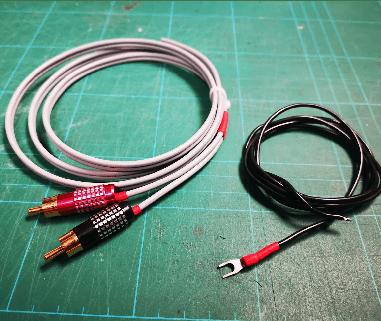 Budget technics 1210 cable handmade