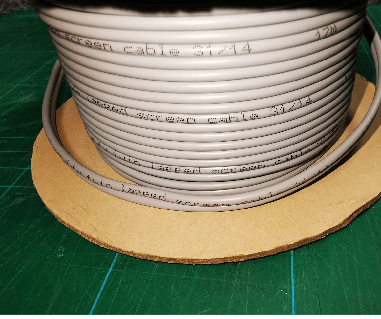 Reel of grey cable