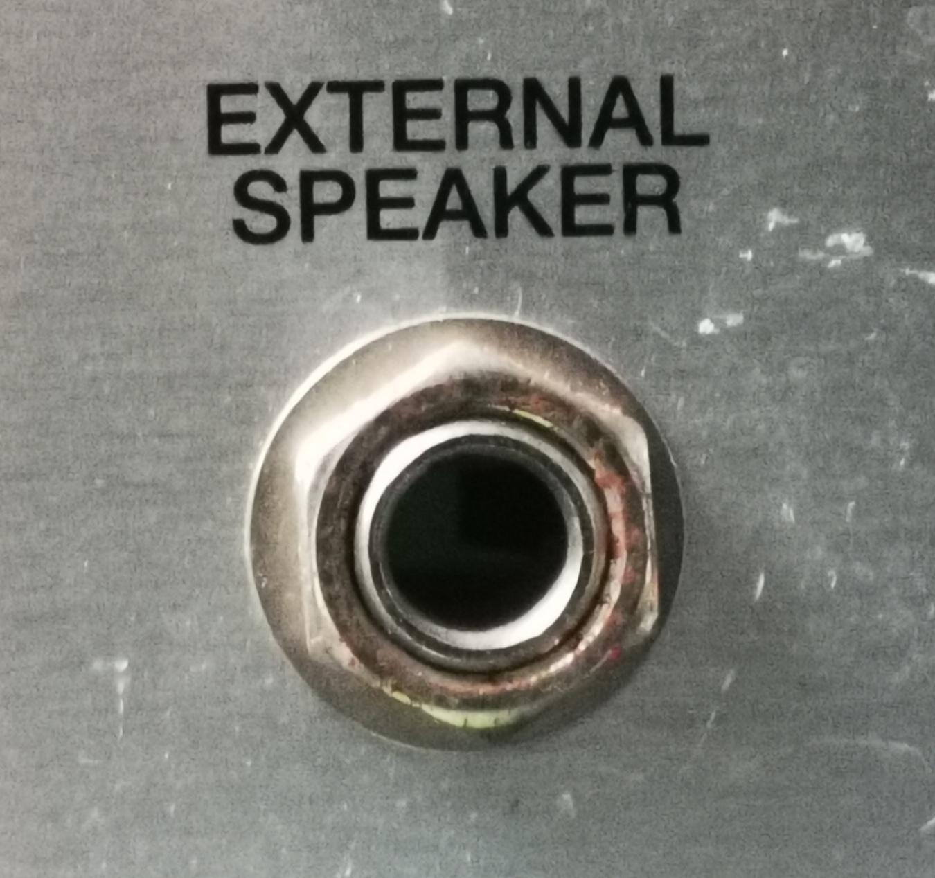 External Speaker Socket