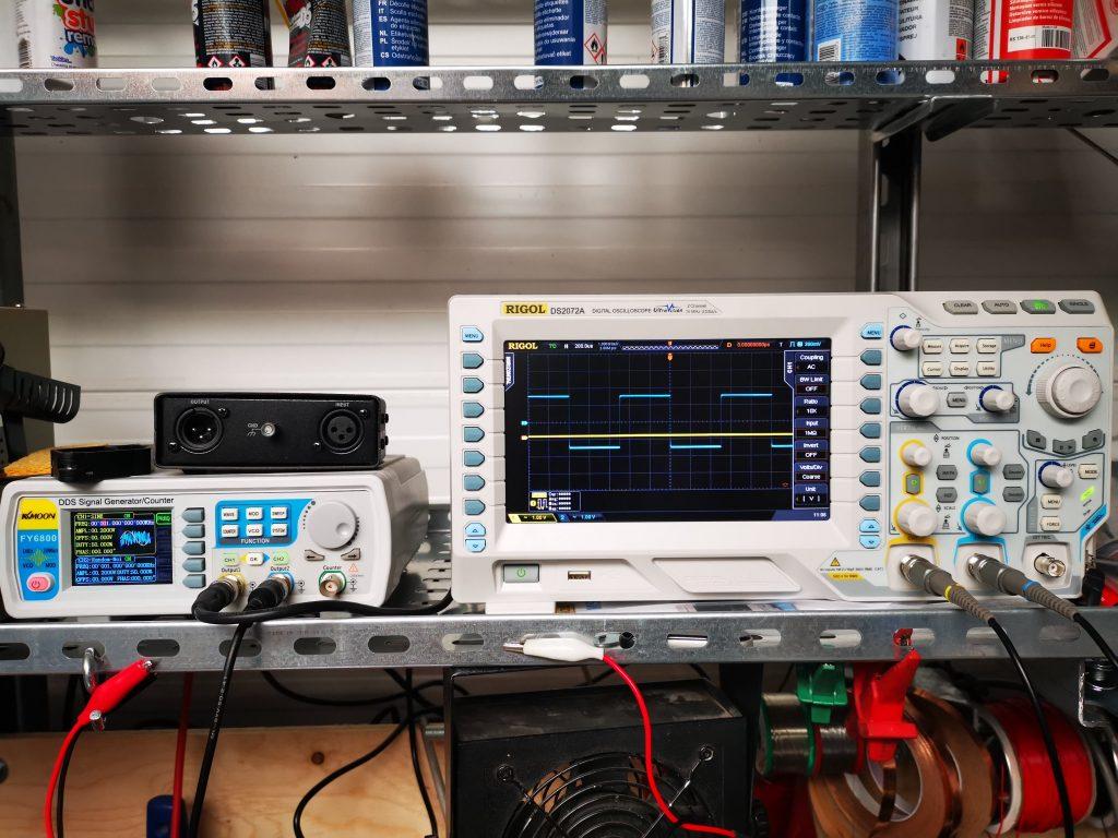 Test equipment on shelf
