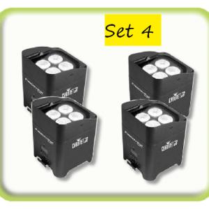 Set of 4 Wireless Battery Uplights